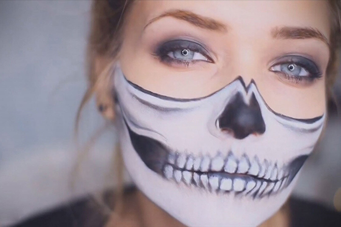 Хэллоуин макияж легко